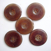 Antique Horn Coat Buttons