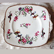 Paragon China Square Handled Plate ca. 1920