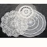 Large Vintage Crocheted Doilies 3 Designs