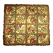 Brocade Panel Jewel Tone Floral with Metallic Trim