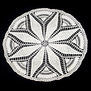Vintage Crocheted Doily Large Star Pattern
