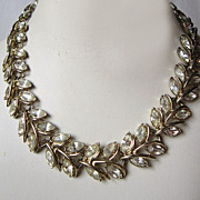 Coro Rhinestone Marquis Necklace