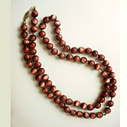 Vintage Goldstone Necklace 14K Gold Clasp