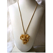 Vintage Necklace Gilded Leaves with Speidel Chain