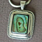 Sterling Silver Shell Pendant and Snake Chain