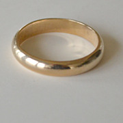 Classic Old 14K Wedding Band 3.5 Grams