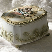 Romantic Couple Bisque Porcelain Box
