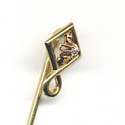 Diamond 14K Gold Stickpin