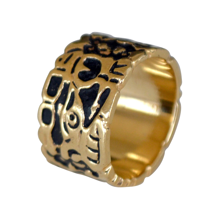 cigar band ring 14k gold 10 grams from artsnends on ruby