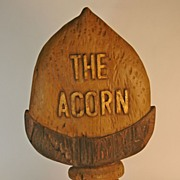 "SALE ""The Acorn"" Wooden Trade Sign"