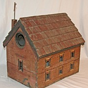Antique Folk Art Bird House is a Faithful Model of the Historic Salem Baptist Church of Freder