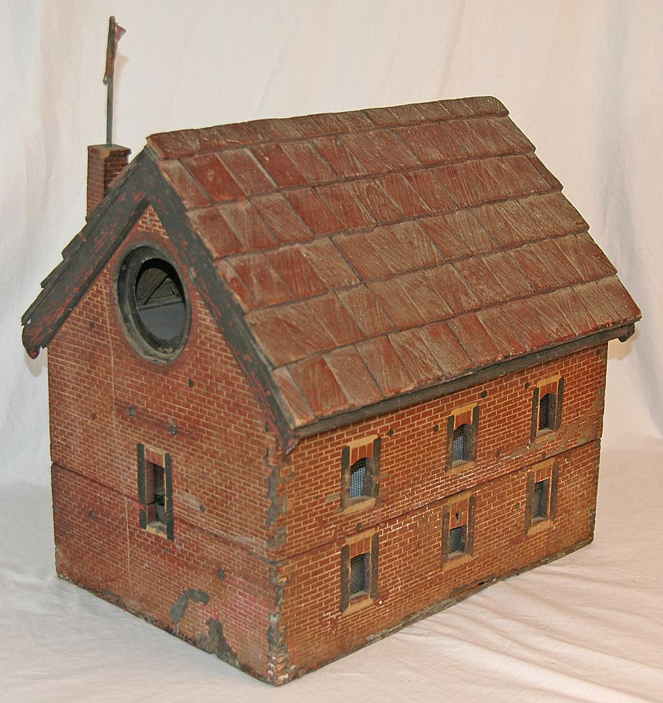 Antique Folk Art Bird House is a Faithful Model of the Historic Salem Baptist Church of Fredericksburg, VA.