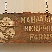 Mahatango Hereford Farms Trade Sign
