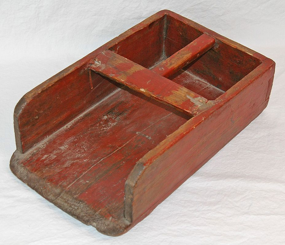 Vintage Grain Scoop in Red Paint
