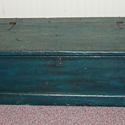 19th Century Carpenter's Sea Chest in Original Green Surface