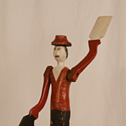 Painted Wooden Figural Whirligig