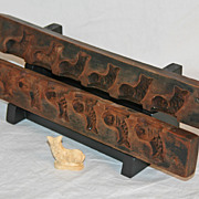 Early Wooden Maple Sugar Mold with Dolphin Motif