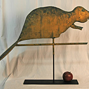 Rare Swell Bodied Beaver Weathervane