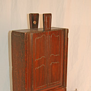 Early 19th Century French Slide Lid Wall Box in Walnut