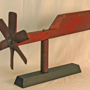 Red Painted Aeronautic &quot;Whirlivane&quot;