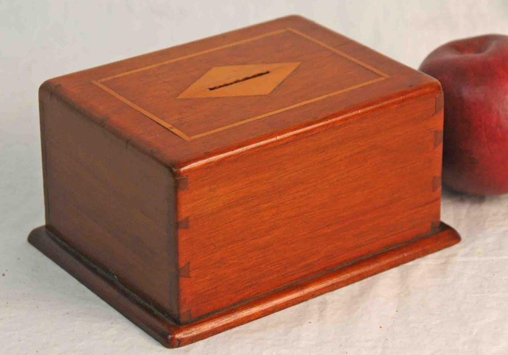 Vintage Inlaid Mahogany Bank