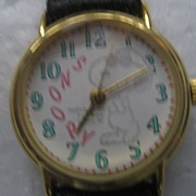 SALE Snoopy Vintage Watch w/ Snoopy Tin
