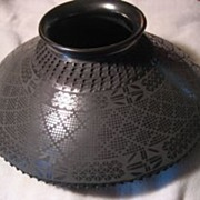 SALE Mata Ortiz Black Incised Pottery by Miguel Bugarini