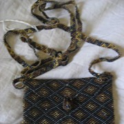 SALE Beaded Over The shoulder Bag/Purse