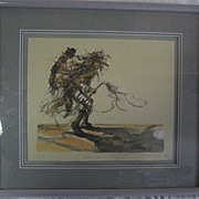 SALE Crow Dancer I Larry Fodor Water Color LE Signed & Numbered