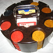 SALE Bakelite Chips & Bakelite Turntable Chip Rack