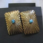 SALE Sterling Silver & Turquoise Earrings