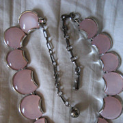 SALE Thermoset Pink Vintage Necklace
