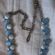 SALE Thermoset Blue Vintage Necklace