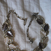 SALE Lisner Thermoset Brown Vintage Necklace