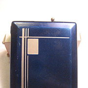 Cigarette & Lighter Vintage Art Deco Case