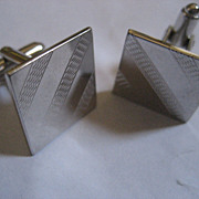 SALE Sterling Silver Vintage Cuff Links