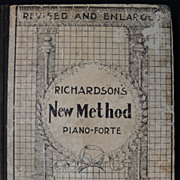 100+ Year Old Piano Book, Music, Nathan Richardson, W.S.B. Mathews, 1894