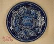 Romantic Staffordshire Flow Blue or Blue & White Transfer Picturesque Scenery Dinner Plate - Pain's Hill