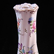 SALE Hand Painted Dresden Flower Porcelain Hat Pin Holder - Hirsch