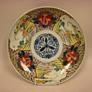 Japanese Imari Large 12&quot; Plate Charger Bird Design c.1830