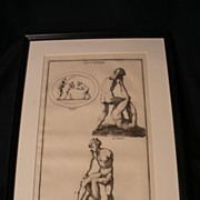Montfaucon 18th cen. Engraving Greek Wrestlers or Luttuers