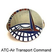 SALE WWII Levelle & Co. Army Air Force ATC Air Transport Command Pin Sterling Silver Enamel