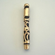 SOLD Antique Moores Gold Filled Fountain Pen Non Leakable 1896
