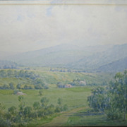 Late 19th/Early 20th Century American Impressionist Landscape by  Carroll C. Child