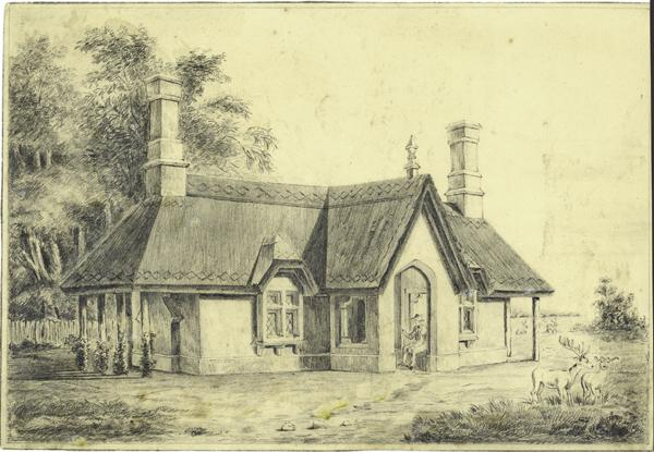 Outstanding Early English Pencil Drawing Cottage With