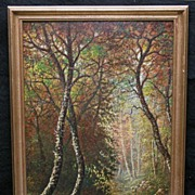 Early Interior Forest Scene Attributed to IN Artist William McKendree Snyder