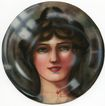 "Art Deco Style ""Bubble"" Portrait Early 20th Century"