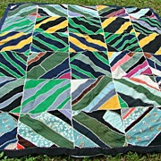 Antique Crazy Quilt Heavily Embroidered Fantastic!