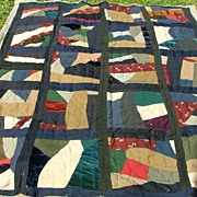 Victorian Crazy Quilt Machine & Hand Finished Full!