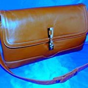 Vintage Caramel Leather Handbag �Canada� Excellent!